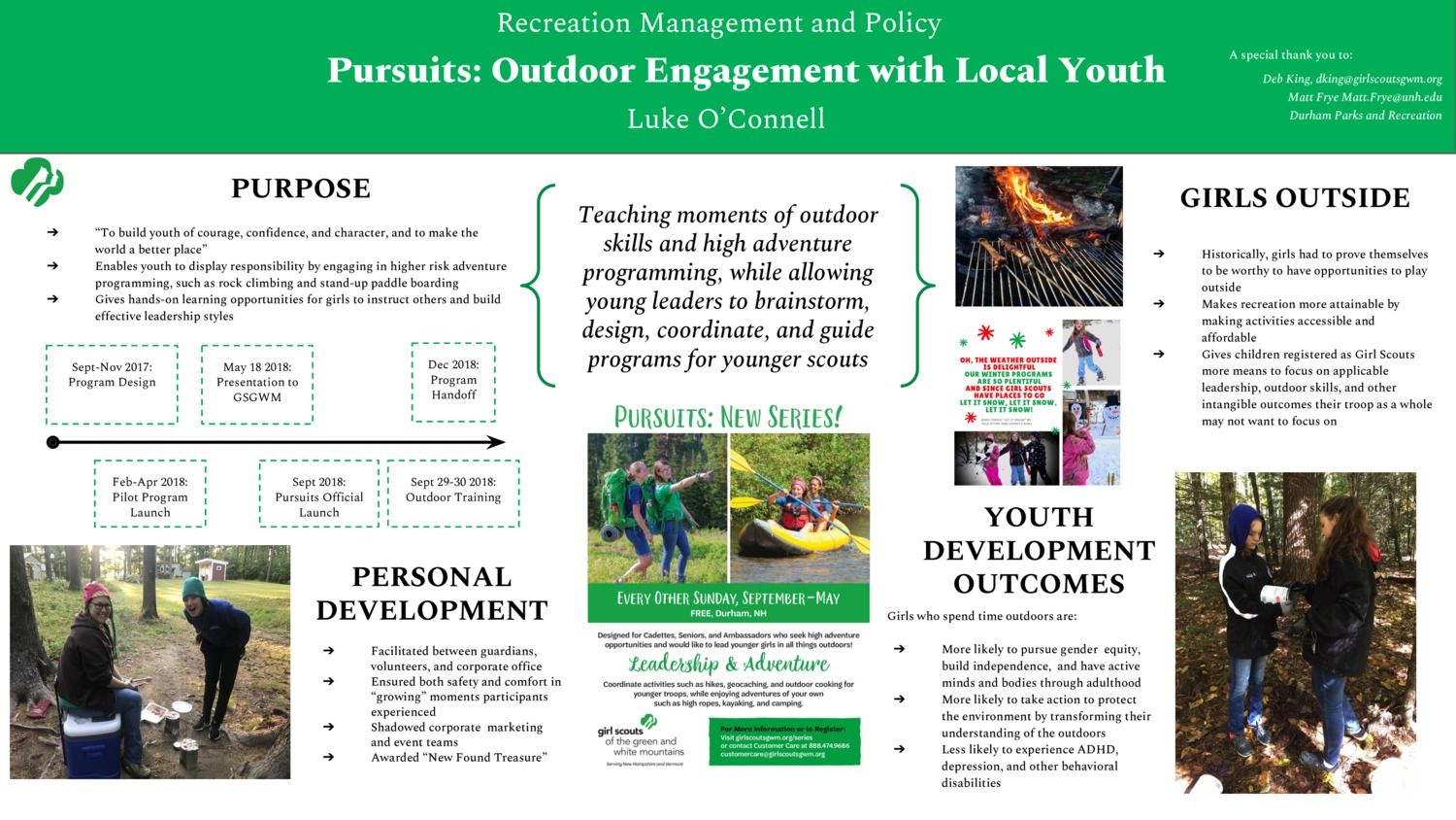 Pursuits: Outdoor Engagement With Local Youth by leo1012