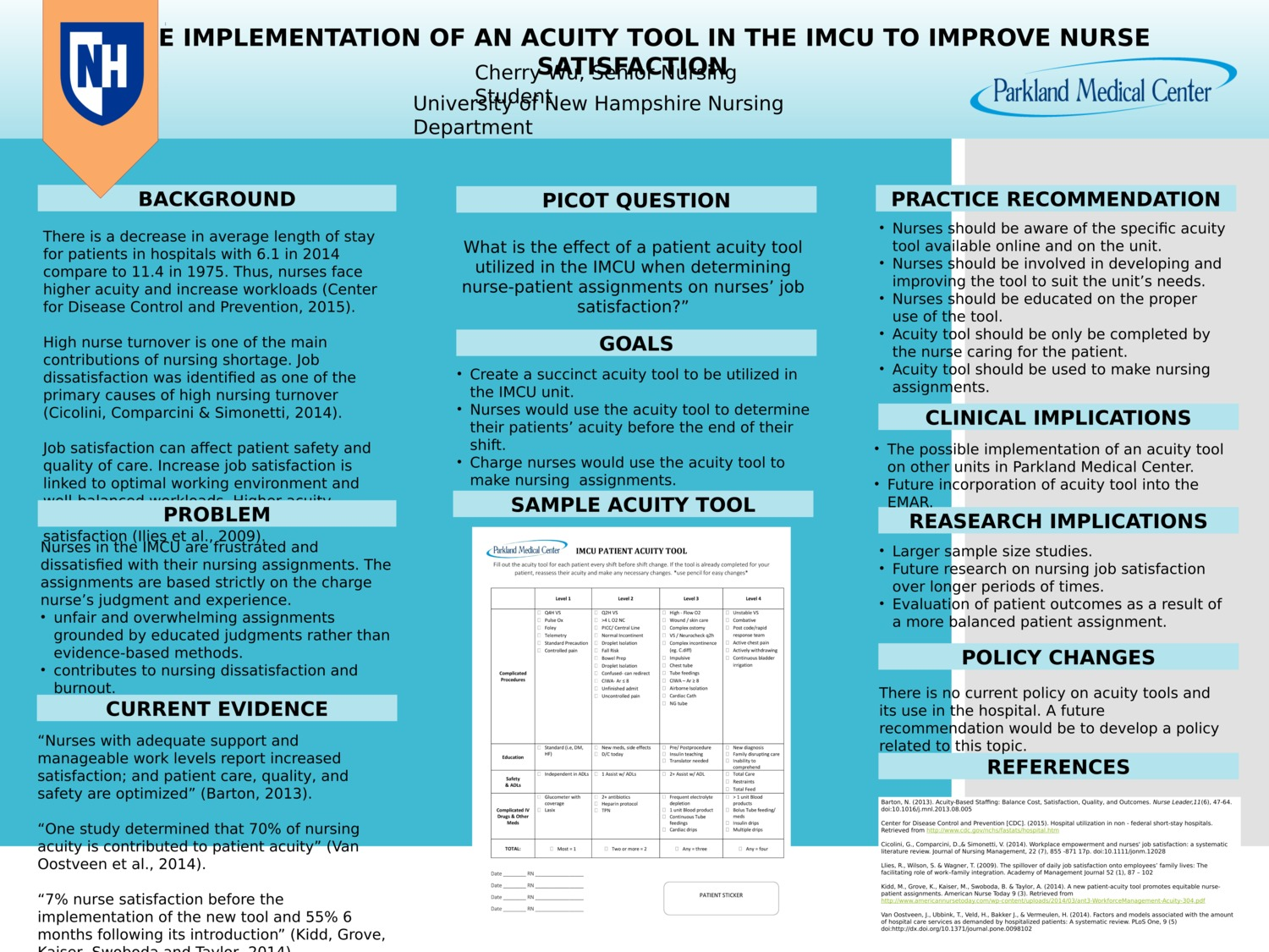 The Implementation Of An Acuity Tool In The Imcu To Improve Nurse Satisfaction  by clw1005