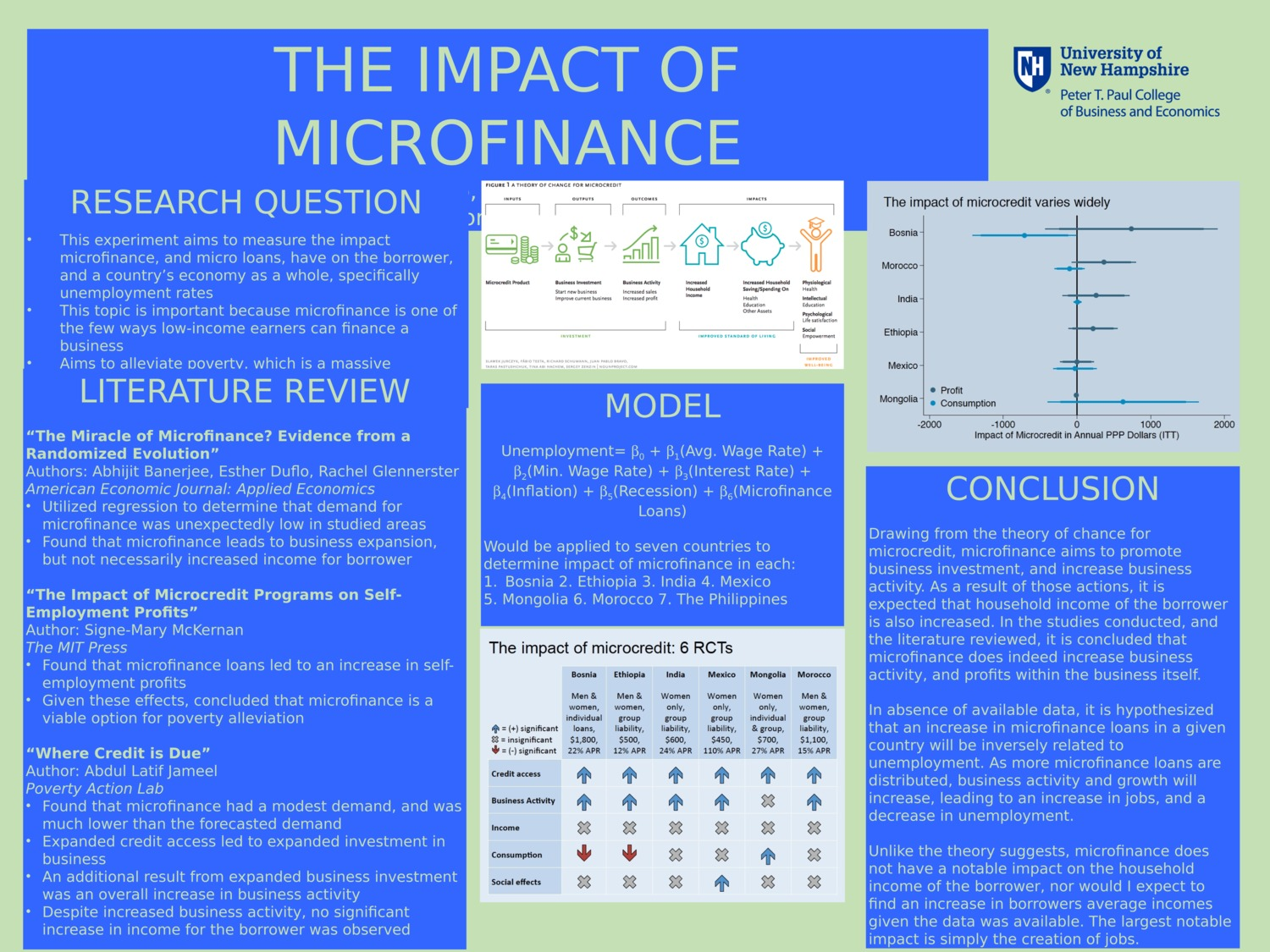 The Impact Of Microfinance by cmg2003