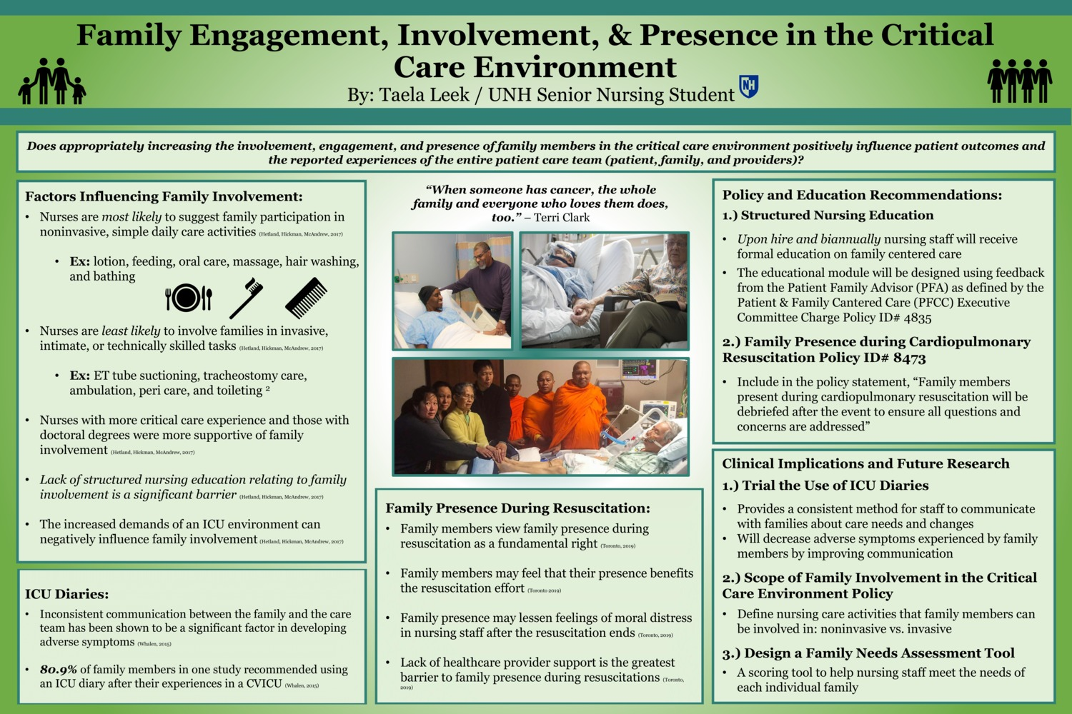 Family Engagement, Involvement, & Presence In The Critical Care Environment by tl1030