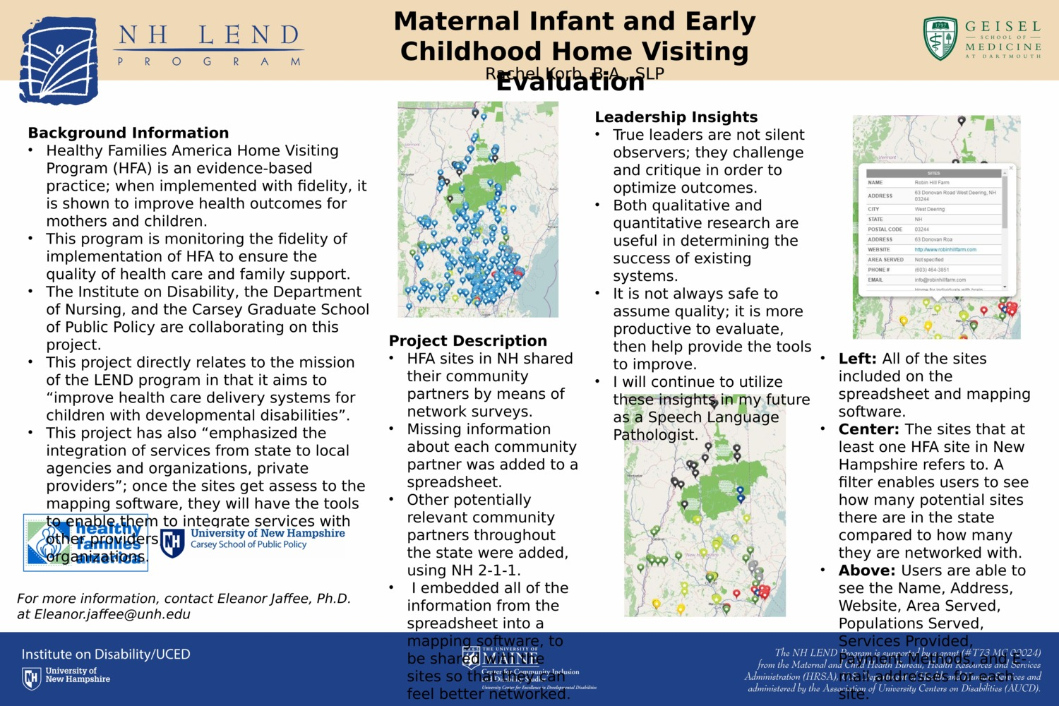 Maternal Infant And Early Childhood Home Visiting Evaluation by rlk2002