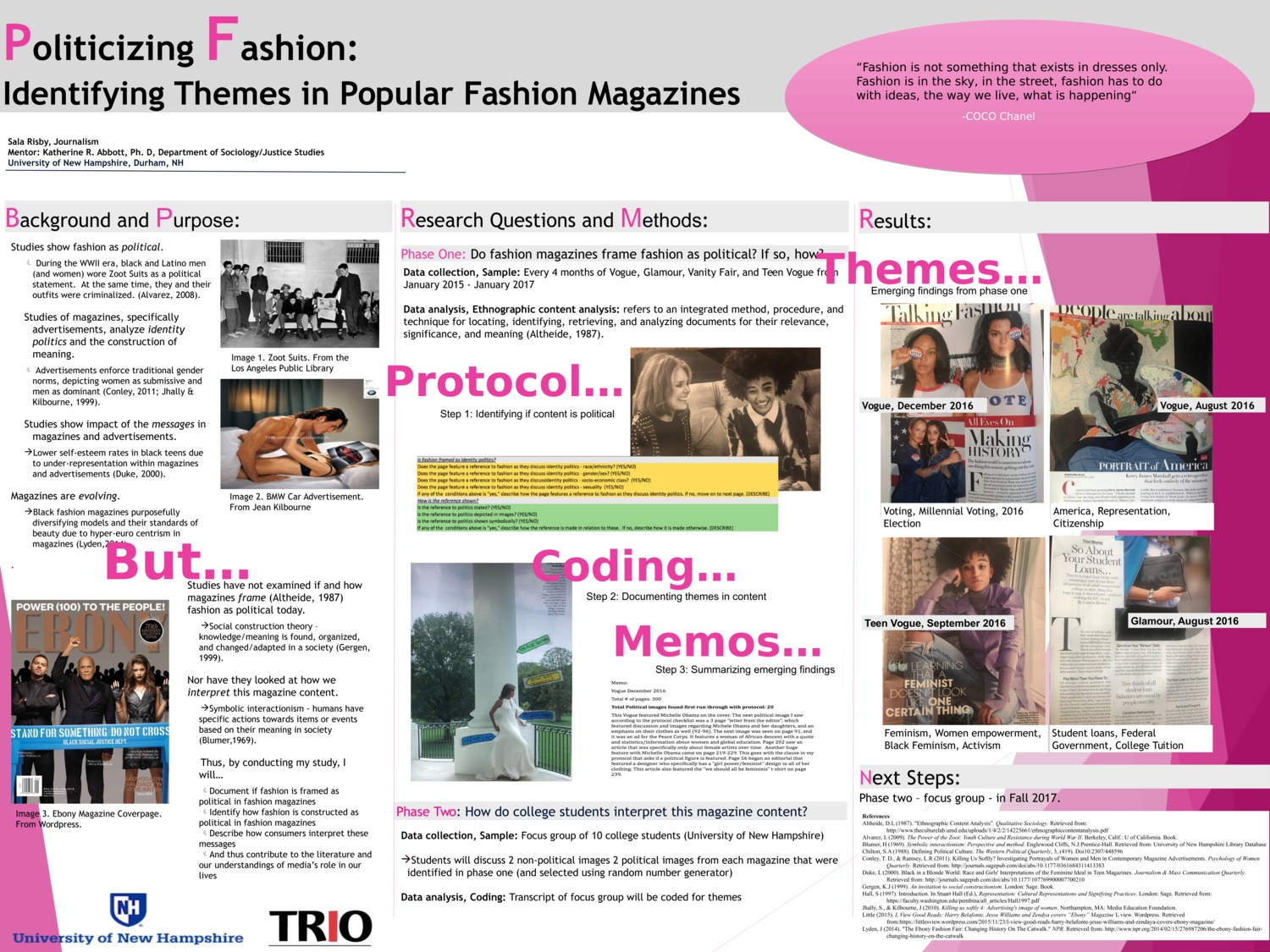 Politicizing Fashion: Identifying Themes In Popular Fashion Magazines by sbr2001