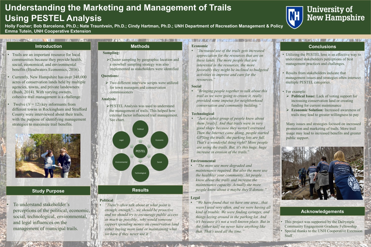 Understanding The Marketing And Management Of Trails Using Pestel Analysis  by hrg33
