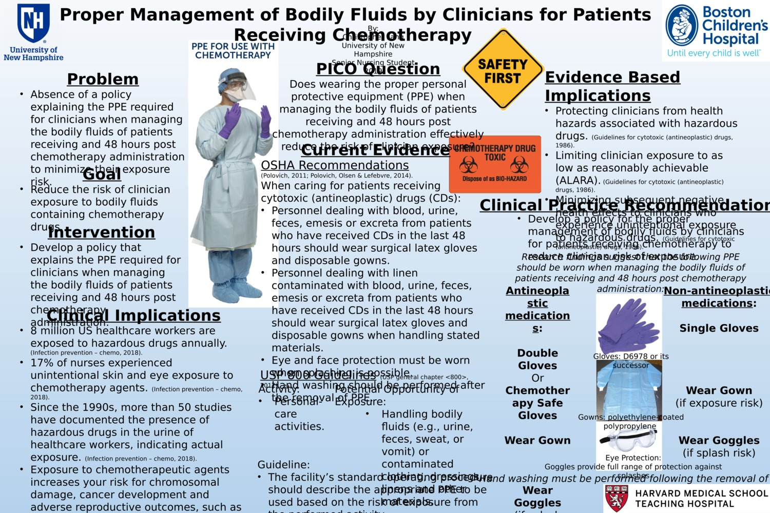 Proper Management Of Bodily Fluids By Clinicians For Patients Receiving Chemotherapy by crl1005