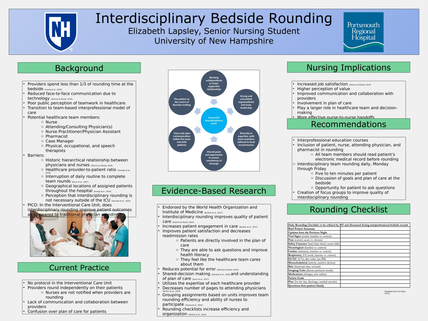 Interdisciplinary Bedside Rounding by ehl2002