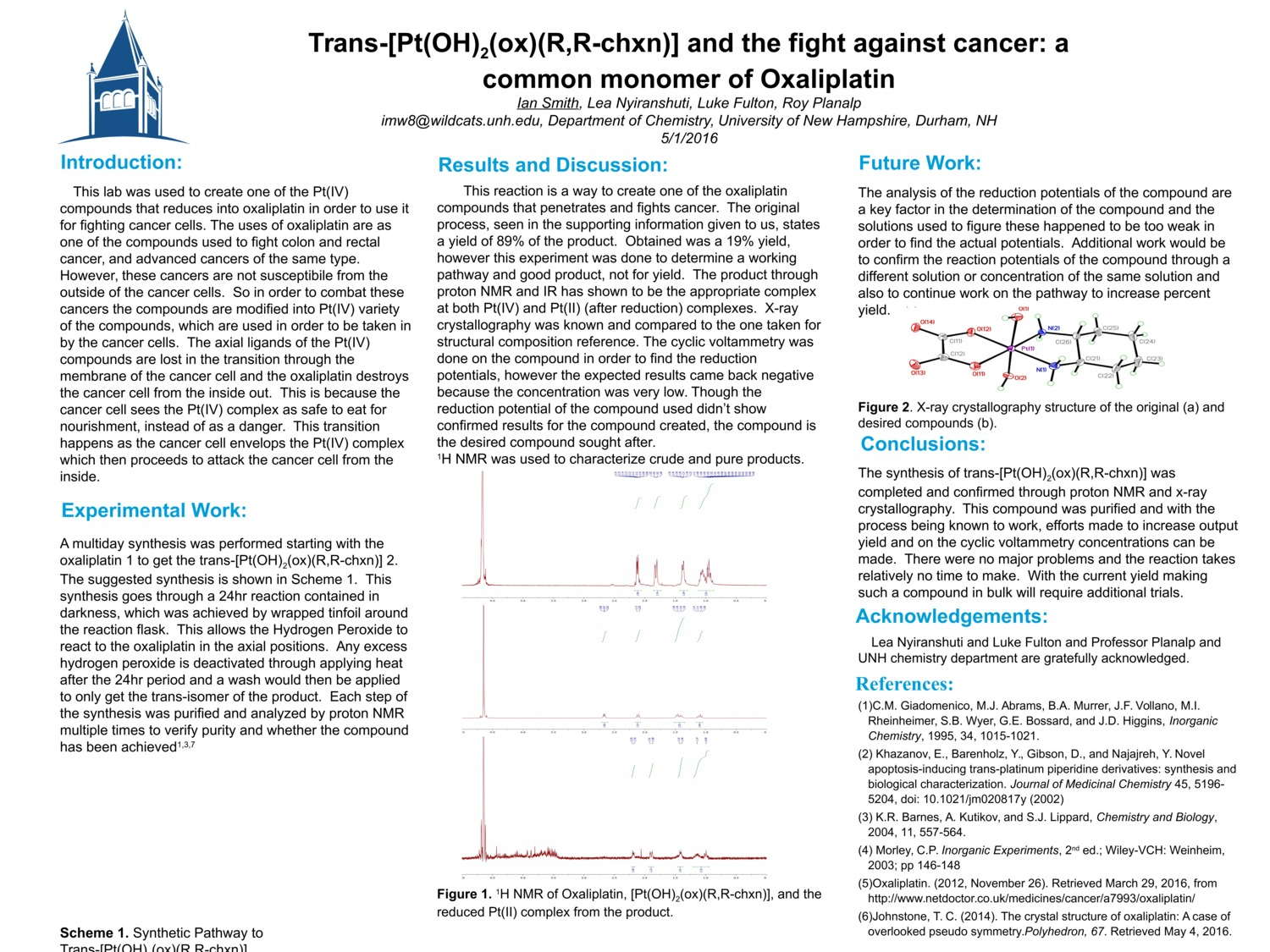 Trans-[Pt(Oh)2(Ox)(R,R-Chxn)] And The Fight Against Cancer: A Common Derivative Of Oxaliplatin by imw8