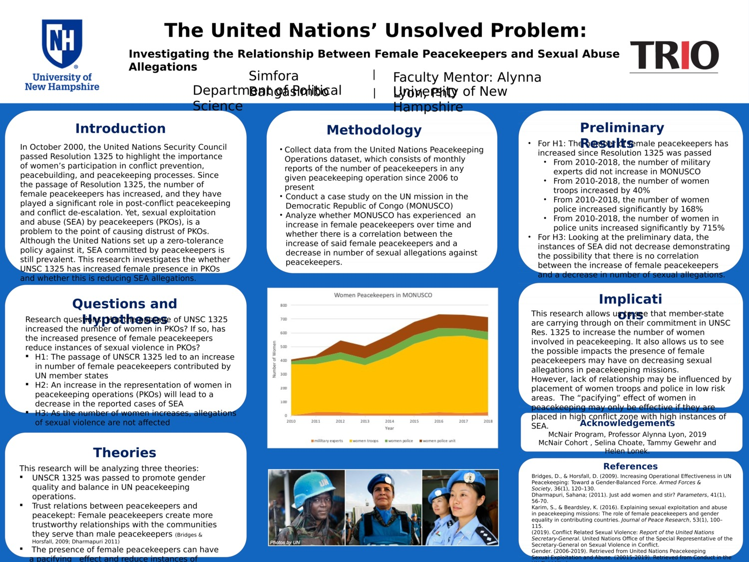 The United Nations' Unsolved Problem: Investigating The Relationship Between Female Peacekeepers And Sexual Abuse Allegations by sdb1014