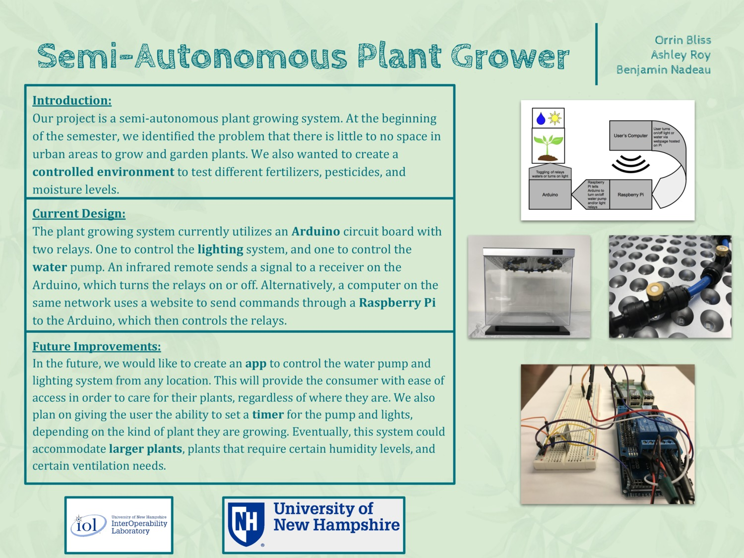 Semi-Autonomous Plant Grower by omb1024