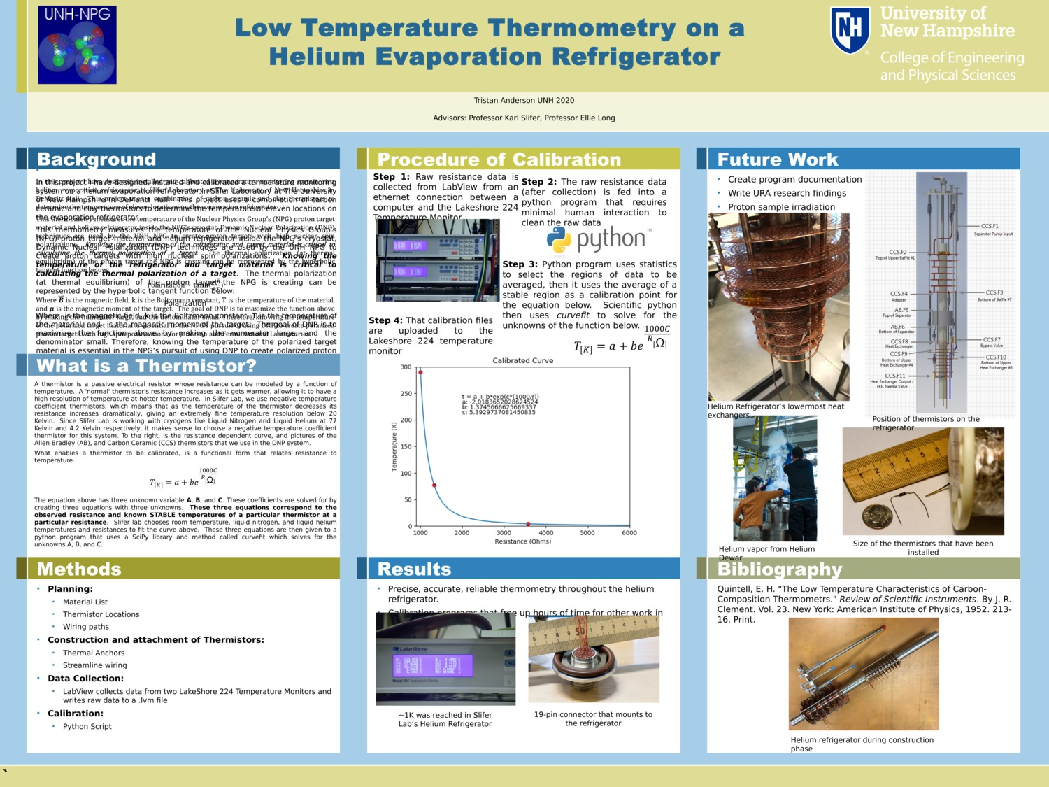 Low Temperature Thermometry On A Helium Evaporation Refrigerator by vipers356