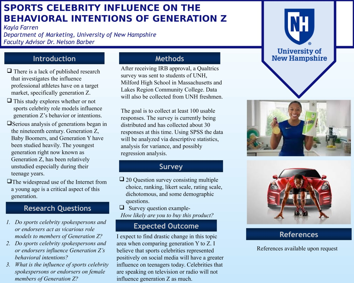 Sports Celebrity Influence On The Behavioral Intentions Of Generation Z by kmf2001
