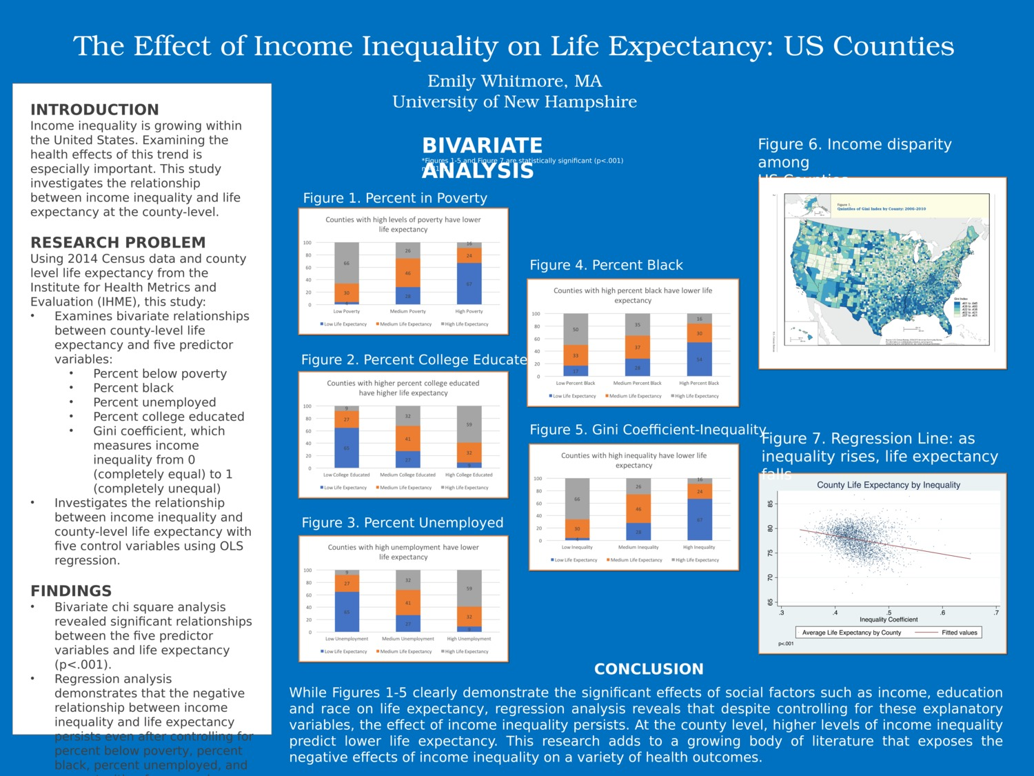 The Effects Of Income Inequality On Life Expectancy: Us Counties by eeh1011
