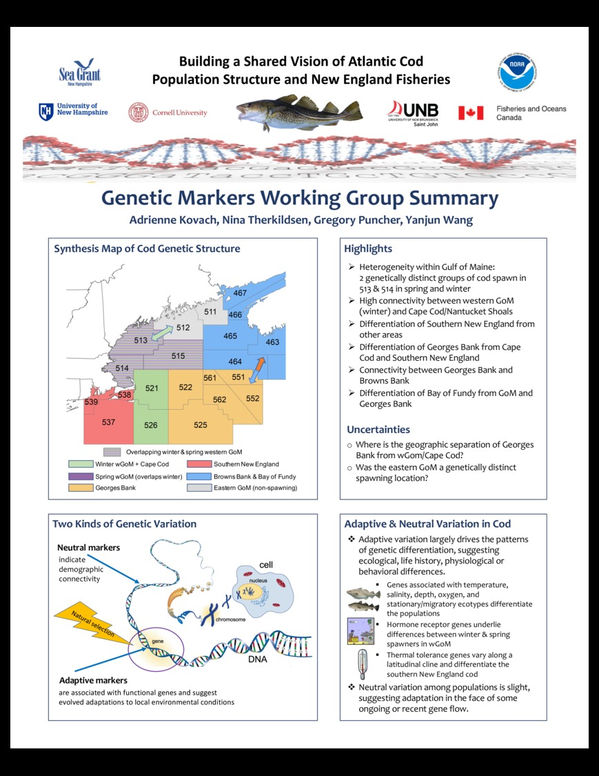 Genetic Markers Working Group Summary by akovach