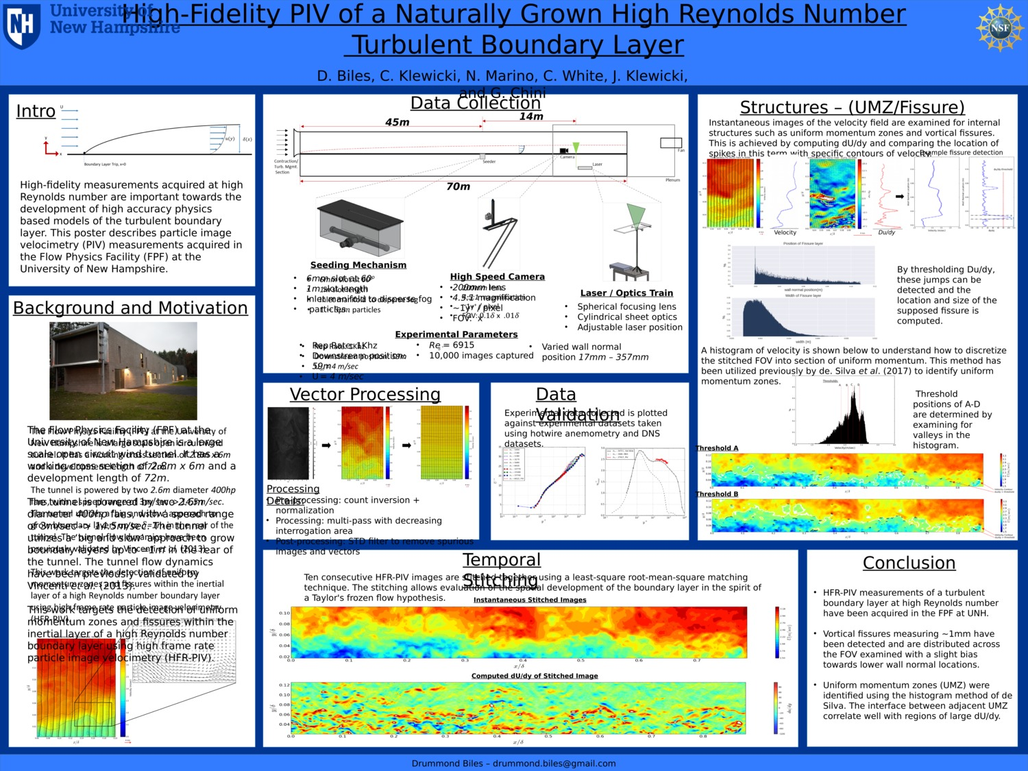 High-Fidelity Piv Of A Naturally Grown High Reynolds Number  Turbulent Boundary Layer by biles430